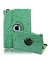 HDE iPad Mini Tablet Case 360 Rotating Flip Stand Folding Folio Magnetic Cover PU Leather for Apple Mini 2/3 Retina (Green Cartoon)