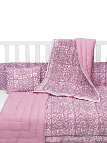 Kerry Cassill 4-Piece Crib Set (Lilac Birdie/Lilac)