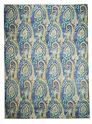 Darya Rugs Suzani Oriental Rug, Blue, 9' x 12'