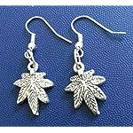 Leaf oxidised earring