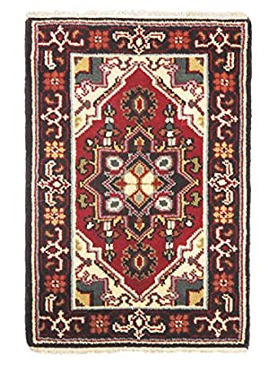Hand-Knotted Royal Heriz Wool Rug, Vivid Red, 2' x 3'