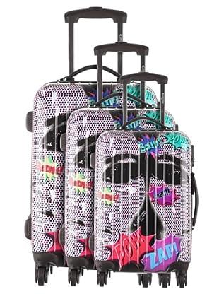 Platinium 3er Set Trolley Pop (Mehrfarbig)