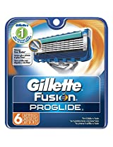 Gillette Fusion Proglide Manual Men's Razor Blade Refills 6 Count