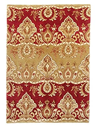 F.J. Kashanian Lalick Hand-Knotted Rug, Red/Gold, 4' x 6'