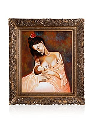 Pablo Picasso Maternity Artwork Framed Oil Painting, 20 x 24