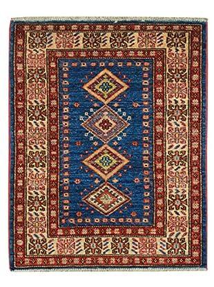 Kalaty One-of-a-Kind Kazak Rug, Blue/Ivory, 1' 11