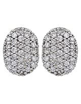 Dilan Jewels POWER Collection 18K Gold Plated Silver Oval Shaped Stud Earrings For Women
