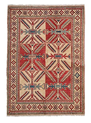 Darya Rugs Kazak Oriental Rug, Red, 4' 1