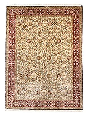F.J. Kashanian Agra Hand-Knotted Rug, Beige/Red, 9' x 12'