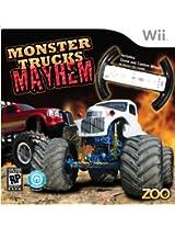 Monster Trucks Mayhem with Racing Wheel - Nintendo Wii