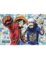 126 Piece Jigsaw Puzzle (10x14.7cm) One Piece Pirate Alliance Frost Art Jigsaw