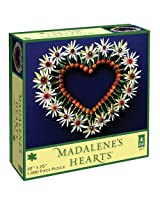 Madalene's Hearts Spring Heart on Blue Jigsaw Puzzle