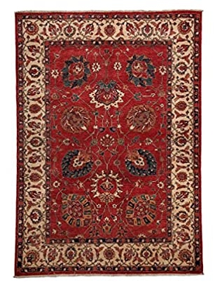 Solo Rugs Traditional Hand-Knotted Rug, Red, 5' 7