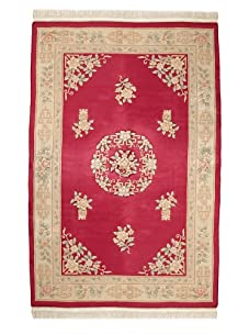 Vintage Chinese Art Deco Rugs (Red Multi)