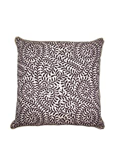 """Lacefield Designs Wesley Basket Weave 20"""" x 20"""" Pillow, Chocolate"""