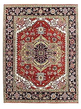Bashian Rugs One-of-a-Kind Hand Knotted Indo-Herez Rug, Rust, 7' 11