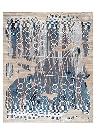nuLOOM One-of-a-Kind Hand-Knotted Felecia Rug, Blue, 8' x 10'