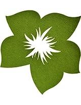 Felt Wall Decor Florals Green CD158 1pc MC