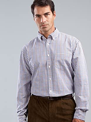 Cortefiel Camisa Cuadros (blanco / morado / azul / marrón)