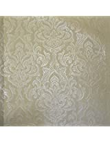 Mystyle Vinyl On Non Woven Wallpaper (21 Inches x 396 Inches, Green and Silver)