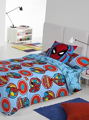 Euromoda Licencias Juego de Fundas Nórdicas Spiderman Aventura (Azul / Rojo)