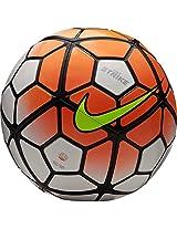 Nike White, Orange, Black Strike Aerowtrac Football - 2015/16, Size-5