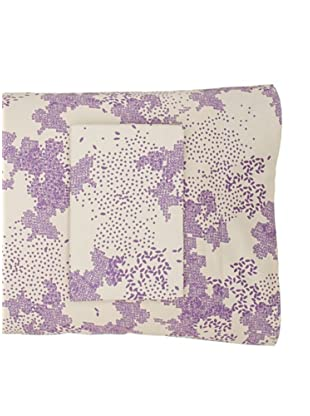 Twinkle Living Pair of Dew Pillowcases (Dove/Plum)