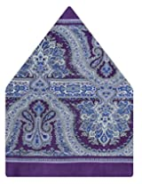 Tiekart Polka Print Silk Pocket Square (Ps451_Purple)