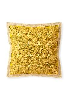 "Mar Y Sol Sayulita 20"" Square Pillow (Canary)"