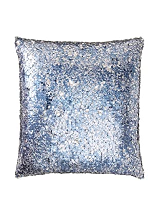 Aviva Stanoff Paisley Printed Sequin Pillow, Blue