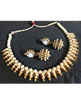 Pearl gota necklace set