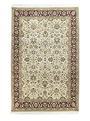 Bashian Rugs One-of-a-Kind Hand Knotted Pakistani Kashan Rug, Ivory/Red, 6' 6