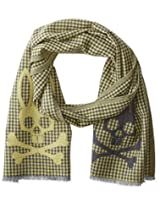 Psycho Bunny Men's Mccloud Reversible Scarf, Bronze, One Size