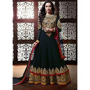 Shraddha Kapoor Black Anarkali Suit-TBSUKHWB1136