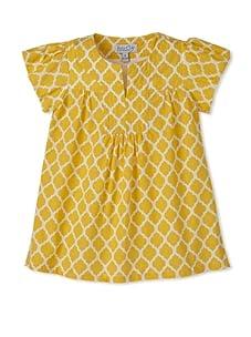 Baby CZ Girl's Bridgette Dress (Yellow/White)