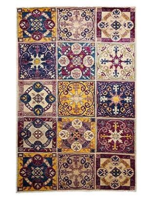 Darya Rugs Suzani Oriental Rug, Purple, 5' 3