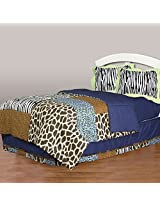 One Grace Place Jazzie Jungle Boy Full  Bedding Set, 4 Piece