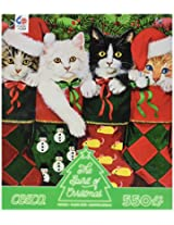 Ceaco The Spirit of Christmas - Cat in Stockings - Holiday Puzzle (550 Piece)