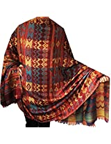 Indian Shawl Scarf Womens Wool India Clothing Gift (82 x 42 inches)