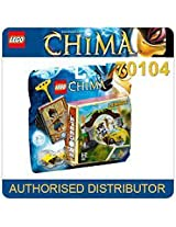 Game / Play LEGO Chima Jungle Gates 70104 Includes Lennox minifigure with 2 weapons Battle for the powerful Toy / Child / Kid