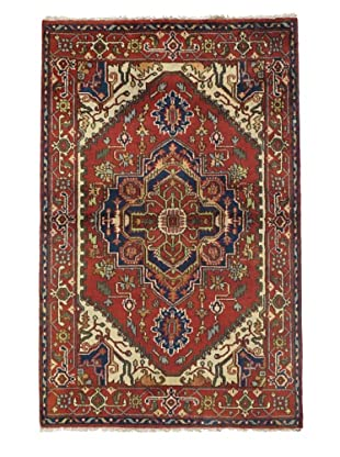 Rug Republic One Of A Kind Indo-Serapi Hand Knotted Rug, Antique Red/Multi, 3' 11