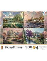 Ceaco 4-in-1 Multi-Pack Thomas Kinkade Jigsaw Puzzle