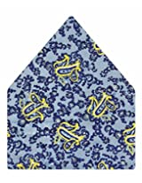 Tiekart Printed Silk Pocket Square (Ps355_Blue)