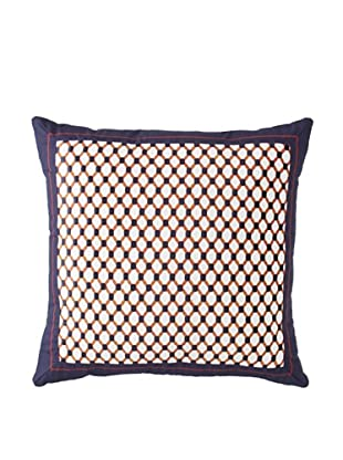 Tommy Hilfiger Shelburne Paisley Decorative Pillow, Navy/White/Red, 18