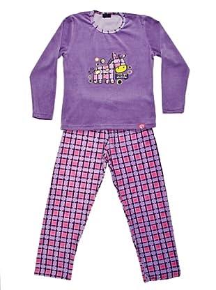 Blue Dreams Pijama Niña Tundosado (morado)