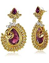 Ava Drop Earrings for Women (Purple) (E-SD-AHQ189)