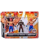 WWE Wrestling Exclusives Diego, El Torito Fernando Exclusive Action Figure 3-Pack