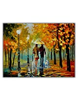 TIA Creation Romantical Love Canvas 0265 Print on Cotton Canvas 31inch x 22inch