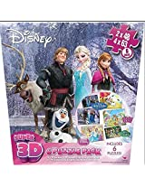 Disney Super 3 D 6 Puzzle Pack: Frozen, Palace Pets, Princesses & Fairies