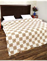 Pleasant Hand Block Printed Cotton Duvet Cover Double White Floral By Rajrang